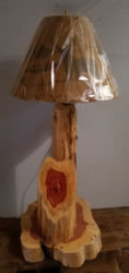 Rustic Furniture Red Cedar Lamp